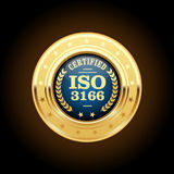 ISO 3166  standard medal - country codes. Area Royalty Free Stock Photo