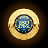 ISO 27001 standard medal - Information security Royalty Free Stock Photography