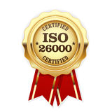 ISO 26000 standard rosette Royalty Free Stock Photos