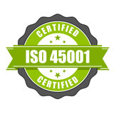 ISO 45001 standardu świadectwa odznaka ilustracji