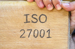 Iso 27001 text concept Stock Photo
