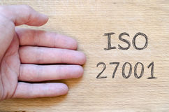 Iso 27001 text concept Royalty Free Stock Images