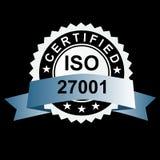 ISO verklaarde zilveren embleem Stock Afbeelding