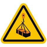 ISO 7010 W015 Warning, Overhead load, vector icon vector illustration