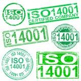 ISO 14001 znaczki Obrazy Stock
