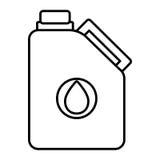 Isoalted油容器,向量图形 库存例证