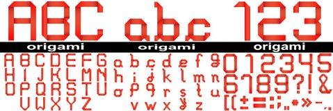 isoalted的红色origami字体 免版税库存照片