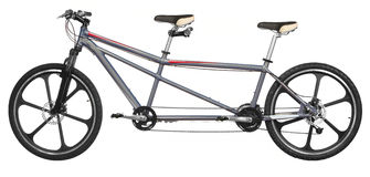 Isoalted tandem bicycle stock photography