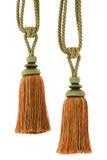 isoated tassels två för kabel gardin Arkivfoton