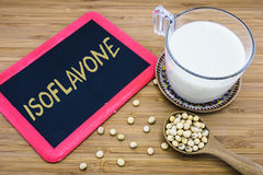 Isoflavone в соях Стоковая Фотография RF