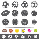 isokated on white sportive balls vector set Stock Image