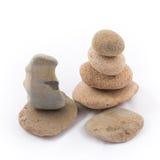 Isolé des pierres d'équilibre est le zen pour la station thermale Photographie stock libre de droits