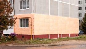 Isolação de paredes externos Foto de Stock