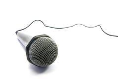Isolação do microfone Fotografia de Stock