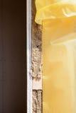 Isolação térmica de uma construção da parede da casa Imagens de Stock