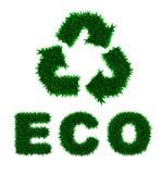 isola надписи иконы зеленого цвета травы eco рециркулирует Стоковая Фотография RF