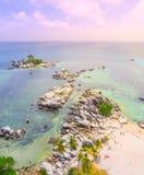 Isola aerea di Lengkuas, Belitung, Indonesia fotografia stock libera da diritti