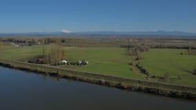 Isola aerea di Portland Sauvie video d archivio