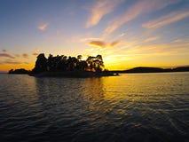 Isola al sole Fotografie Stock Libere da Diritti