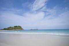 Isola & spiaggia Fotografia Stock