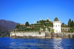 Isola Bella风景看法在马焦雷湖,意大利,欧洲的 免版税库存图片
