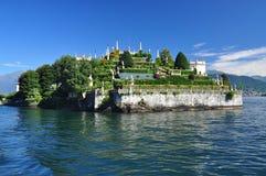 Isola Bella,斯特雷萨,湖- lago - Maggiore,意大利 庭院停止 免版税库存照片