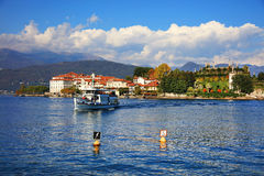 Isola Bella, Lago Maggiore,意大利,欧洲的风景看法 免版税库存照片
