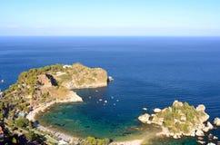 Isola Bella, Taormina,西西里岛 免版税图库摄影