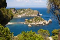 Isola Bella. The famous Isola Bella island at Taormina, Italy stock image