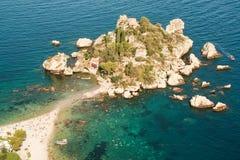 Isola Bella av Taormina arkivfoton