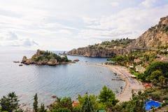 Isola Bella Beach - Taormina royaltyfri foto