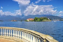 Isola Bella, Borromean öar, Lago Maggiore, Piedmont arkivbilder