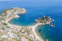 Isola Bella, cerca de Taormina, Sicilia, Italia Foto de archivo libre de regalías