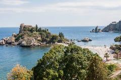 Isola Bella, cerca de Taormina, Sicilia, Italia Fotografía de archivo