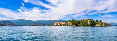 Isola Bella and dei Pescatori, fisherman island in Maggiore lake Stock Photography
