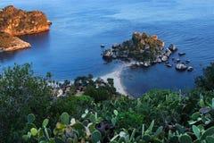 Isola Bella em Taormina Sicília Foto de Stock