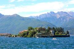 Isola Bella en Meer Maggiore, Italië Stock Afbeeldingen