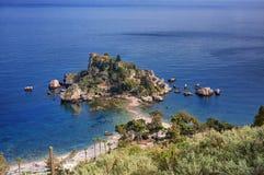 Isola bella i taorminaen, Sicilien royaltyfri bild