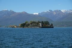 Isola Bella Island, lago Como, Itália imagem de stock royalty free