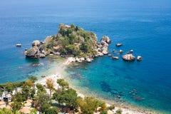 Isola Bella island in Taormina Royalty Free Stock Photos