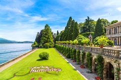 Isola Bella, Italy. June 25, 2012: Panorama of Isola Bella on Maggiore lake, Italy royalty free stock photos
