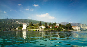 Isola Bella, Lago Maggiore, Italy. Set on the Borromean Island the sumptuous Baroque palace, and luxuriant Italian garden; Isola Bella is a lived-in museum, it royalty free stock photography