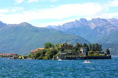Isola Bella and Lake Maggiore, Italy stock images