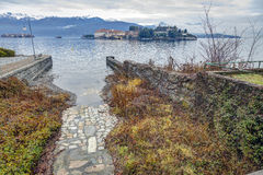 Isola Bella, Lake Maggiore, winter view.  Royalty Free Stock Photography