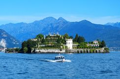Isola Bella in the Maggiore Lake royalty free stock image