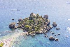 Isola Bella, Mazzaro-Taormina Sizilien Italien stockfotos