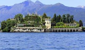 Isola Bella op meer Maggiore Stock Foto's