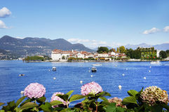Isola Bella seen from the shore of Stresa town Royalty Free Stock Photo
