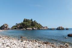Isola Bella, Sicilia foto de archivo