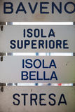 Isola Bella Sign Stock Images